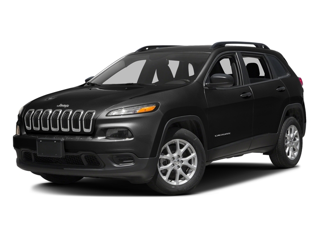 Diamond Black Crystal Pearlcoat 2017 Jeep Cherokee Pictures Cherokee Utility 4D Sport 2WD photos front view