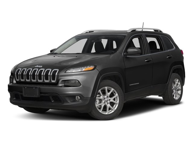 Diamond Black Crystal Pearlcoat 2017 Jeep Cherokee Pictures Cherokee Utility 4D Latitude 2WD photos front view