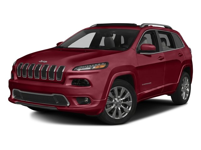 Deep Cherry Red Crystal Pearlcoat 2017 Jeep Cherokee Pictures Cherokee Utility 4D Overland 4WD photos front view