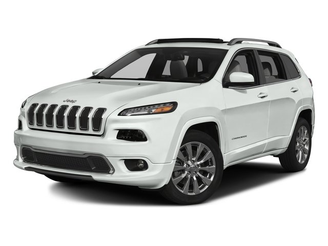 Bright White Clearcoat 2017 Jeep Cherokee Pictures Cherokee Utility 4D Overland 2WD photos front view