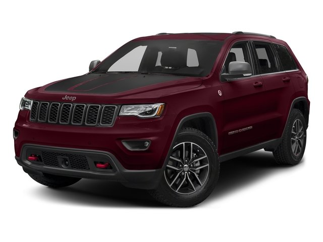 Velvet Red Pearlcoat 2017 Jeep Grand Cherokee Pictures Grand Cherokee Utility 4D Trailhawk 4WD photos front view