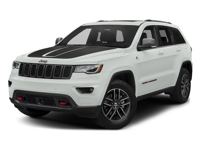 Bright White Clearcoat 2017 Jeep Grand Cherokee Pictures Grand Cherokee Utility 4D Trailhawk 4WD photos front view
