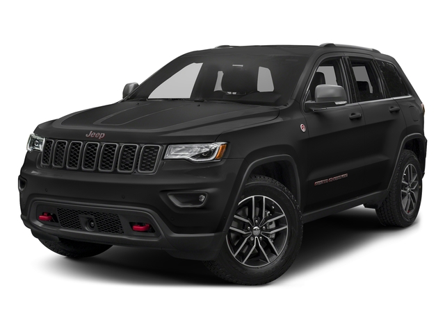 Diamond Black Crystal Pearlcoat 2017 Jeep Grand Cherokee Pictures Grand Cherokee Utility 4D Trailhawk 4WD photos front view