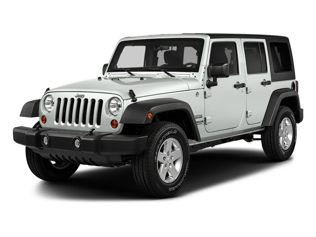 Bright White Clearcoat 2017 Jeep Wrangler Unlimited Pictures Wrangler Unlimited Utility 4D Unlimited Sport 4WD V6 photos front view