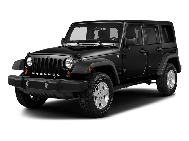 Black Clearcoat 2017 Jeep Wrangler Unlimited Pictures Wrangler Unlimited Utility 4D Unlimited Sport 4WD V6 photos front view
