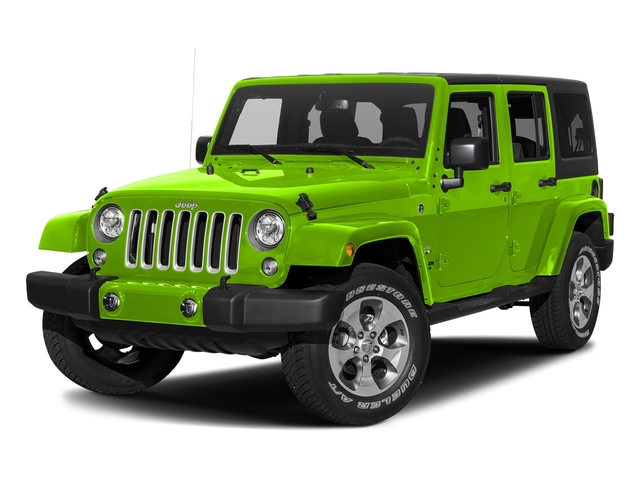 Hypergreen Clearcoat 2017 Jeep Wrangler Unlimited Pictures Wrangler Unlimited Sahara 4x4 photos front view