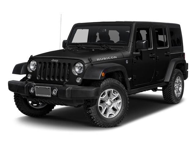 Black Clearcoat 2017 Jeep Wrangler Unlimited Pictures Wrangler Unlimited Rubicon Recon 4x4 photos front view