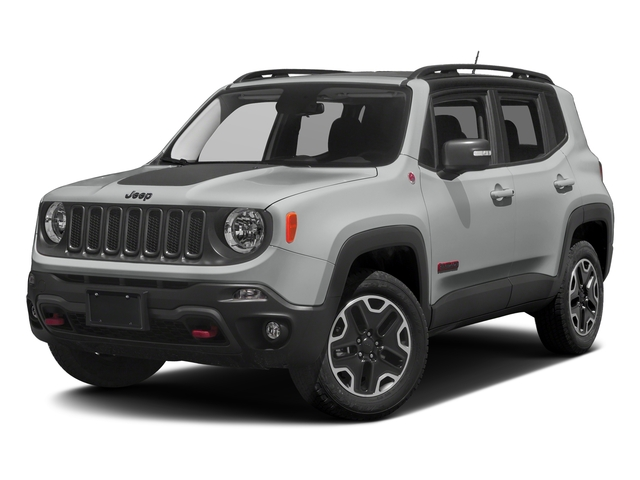 Glacier Metallic 2017 Jeep Renegade Pictures Renegade Utility 4D Trailhawk AWD photos front view