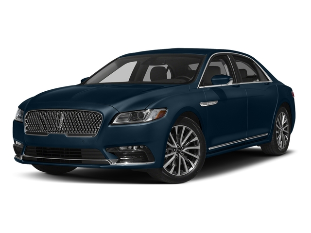 Midnight Sapphire Blue Metallic 2017 Lincoln Continental Pictures Continental Sedan 4D Livery photos front view