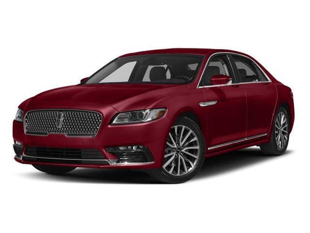 Ruby Red Tinted Clearcoat 2017 Lincoln Continental Pictures Continental Sedan 4D Livery photos front view