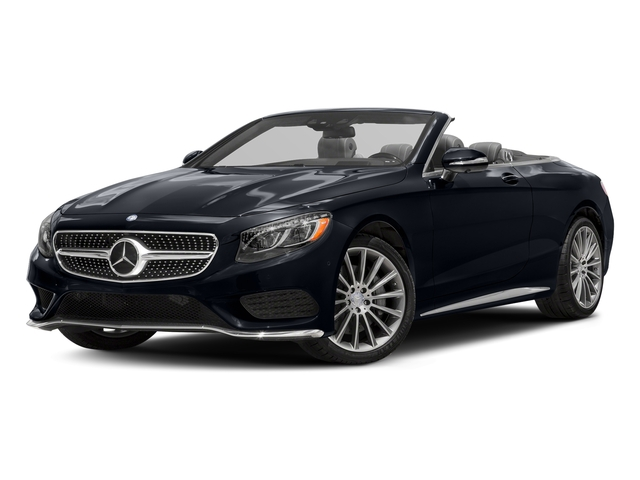 Anthracite Blue Metallic 2017 Mercedes-Benz S-Class Pictures S-Class Convertible 2D S550 V8 Turbo photos front view