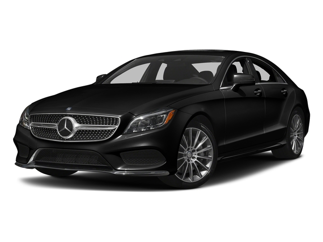 Obsidian Black Metallic 2017 Mercedes-Benz CLS Pictures CLS CLS 550 4MATIC Coupe photos front view