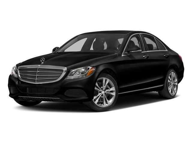 Obsidian Black Metallic 2017 Mercedes-Benz C-Class Pictures C-Class Sedan 4D C300 AWD I4 Turbo photos front view