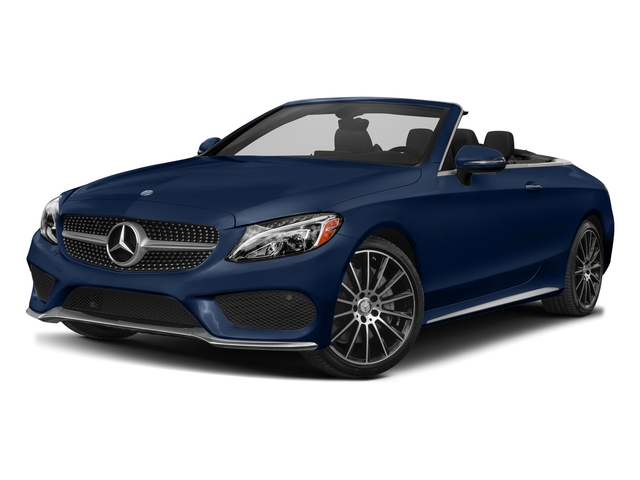 Brilliant Blue Metallic 2017 Mercedes-Benz C-Class Pictures C-Class Convertible 2D C300 AWD I4 Turbo photos front view