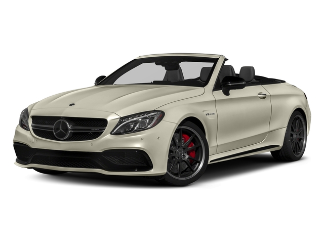 designo Diamond White Metallic 2017 Mercedes-Benz C-Class Pictures C-Class Convertible 2D C63 AMG S V6 Turbo photos front view