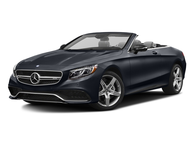 Anthracite Blue Metallic 2017 Mercedes-Benz S-Class Pictures S-Class AMG S 63 4MATIC Cabriolet photos front view
