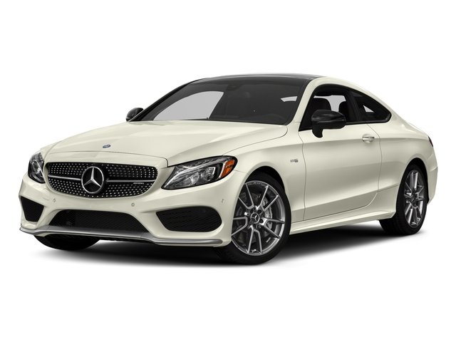 Polar White 2017 Mercedes-Benz C-Class Pictures C-Class AMG C 43 4MATIC Coupe photos front view