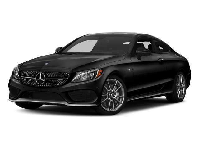 Obsidian Black Metallic 2017 Mercedes-Benz C-Class Pictures C-Class AMG C 43 4MATIC Coupe photos front view