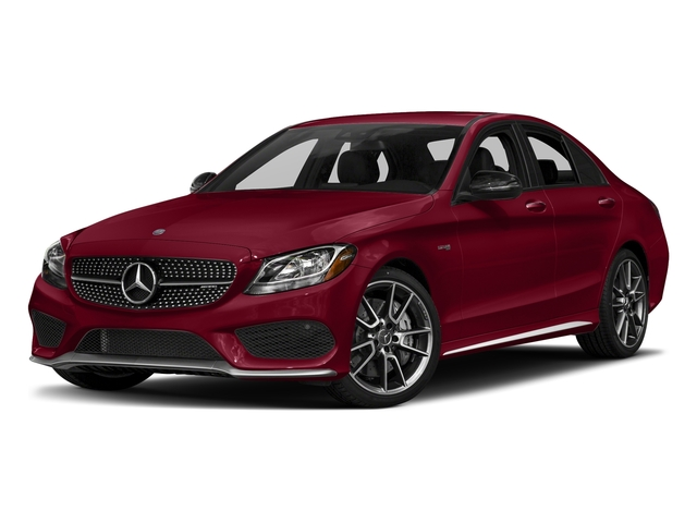 designo Cardinal Red Metallic 2017 Mercedes-Benz C-Class Pictures C-Class Sedan 4D C43 AMG AWD V6 Turbo photos front view