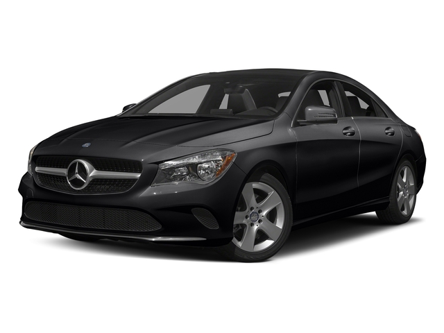 Cosmos Black Metallic 2017 Mercedes-Benz CLA Pictures CLA Sedan 4D CLA250 I4 Turbo photos front view