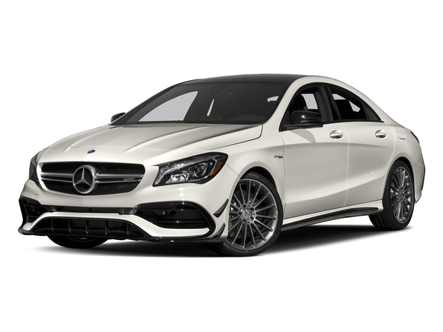 Cirrus White 2017 Mercedes-Benz CLA Pictures CLA Sedan 4D CLA45 AMG AWD I4 Turbo photos front view