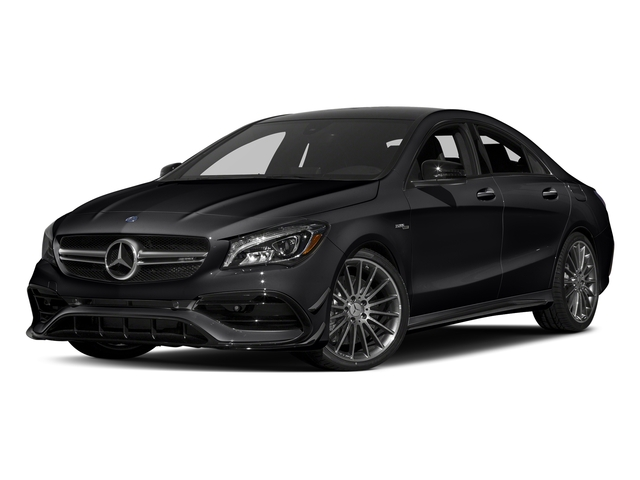 Night Black 2017 Mercedes-Benz CLA Pictures CLA Sedan 4D CLA45 AMG AWD I4 Turbo photos front view