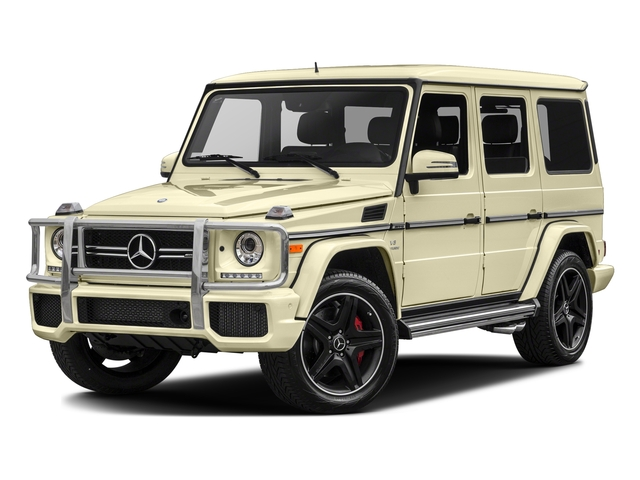 Light Ivory 2017 Mercedes-Benz G-Class Pictures G-Class AMG G 63 4MATIC SUV photos front view