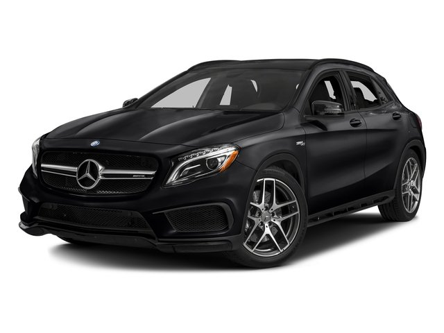 Cosmos Black Metallic 2017 Mercedes-Benz GLA Pictures GLA Utility 4D GLA45 AMG AWD I4 Turbo photos front view