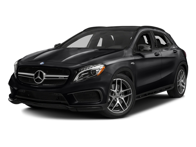 Night Black 2017 Mercedes-Benz GLA Pictures GLA Utility 4D GLA45 AMG AWD I4 Turbo photos front view