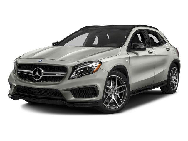 Polar Silver Metallic 2017 Mercedes-Benz GLA Pictures GLA Utility 4D GLA45 AMG AWD I4 Turbo photos front view
