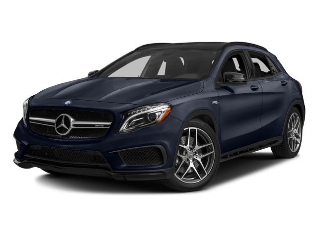Lunar Blue Metallic 2017 Mercedes-Benz GLA Pictures GLA AMG GLA 45 4MATIC SUV photos front view