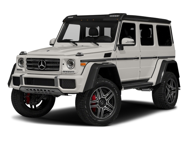 designo Mystic White Metallic 2017 Mercedes-Benz G-Class Pictures G-Class G 550 4x4 Squared SUV photos front view