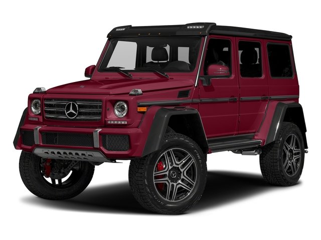 Storm Red Metallic 2017 Mercedes-Benz G-Class Pictures G-Class G 550 4x4 Squared SUV photos front view