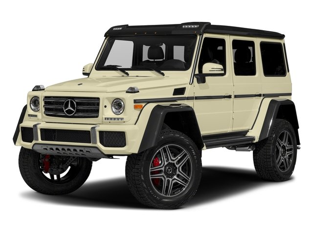 Light Ivory 2017 Mercedes-Benz G-Class Pictures G-Class G 550 4x4 Squared SUV photos front view