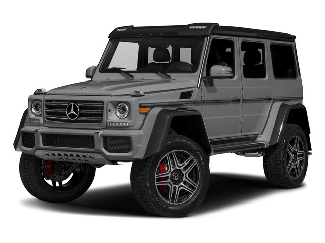 Palladium Silver Metallic 2017 Mercedes-Benz G-Class Pictures G-Class G 550 4x4 Squared SUV photos front view