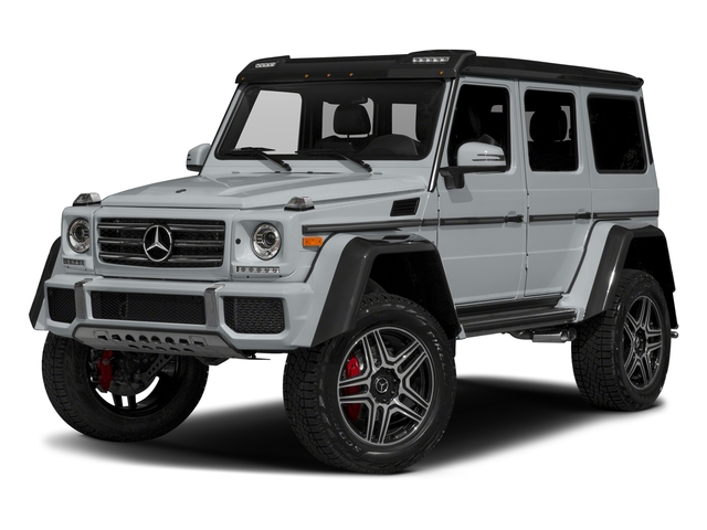 Diamond Silver Metallic 2017 Mercedes-Benz G-Class Pictures G-Class G 550 4x4 Squared SUV photos front view