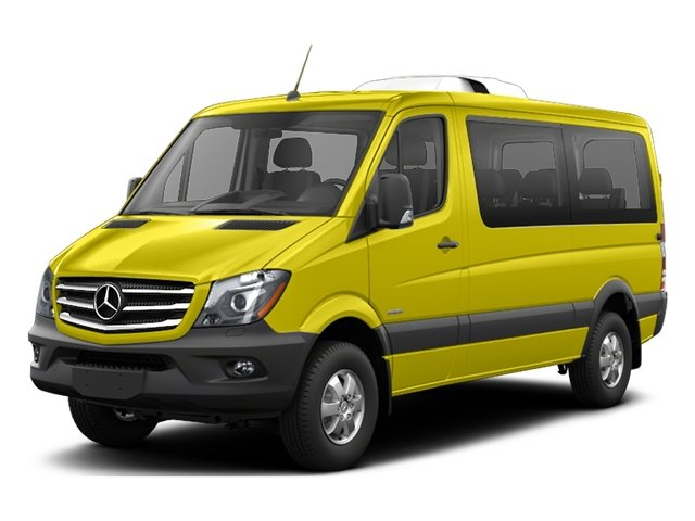 Calcite Yellow 2017 Mercedes-Benz Sprinter Passenger Van Pictures Sprinter Passenger Van 2500 Standard Roof I4 144 RWD photos front view