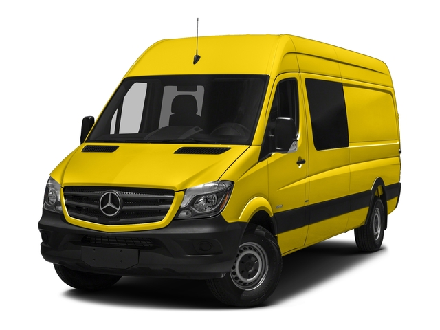 Broom Yellow 2017 Mercedes-Benz Sprinter Crew Van Pictures Sprinter Crew Van 2500 High Roof I4 170 RWD photos front view