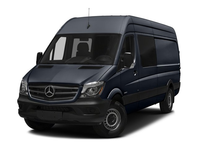 Graphite Gray 2017 Mercedes-Benz Sprinter Crew Van Pictures Sprinter Crew Van 2500 High Roof I4 170 RWD photos front view