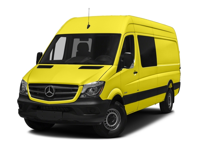 Calcite Yellow Metallic 2017 Mercedes-Benz Sprinter Crew Van Pictures Sprinter Crew Van 2500 High Roof I4 170 RWD photos front view