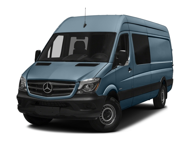 Brilliant Blue Metallic 2017 Mercedes-Benz Sprinter Crew Van Pictures Sprinter Crew Van 2500 High Roof I4 170 RWD photos front view