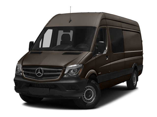 Dolomite Brown Metallic 2017 Mercedes-Benz Sprinter Crew Van Pictures Sprinter Crew Van 2500 High Roof I4 170 RWD photos front view