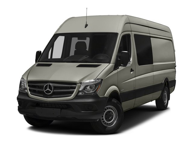 Pearl Silver Metallic 2017 Mercedes-Benz Sprinter Crew Van Pictures Sprinter Crew Van 2500 High Roof I4 170 RWD photos front view