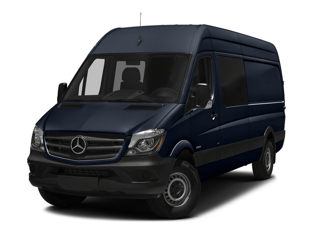 Cavansite Blue Metallic 2017 Mercedes-Benz Sprinter Crew Van Pictures Sprinter Crew Van 2500 High Roof I4 170 RWD photos front view