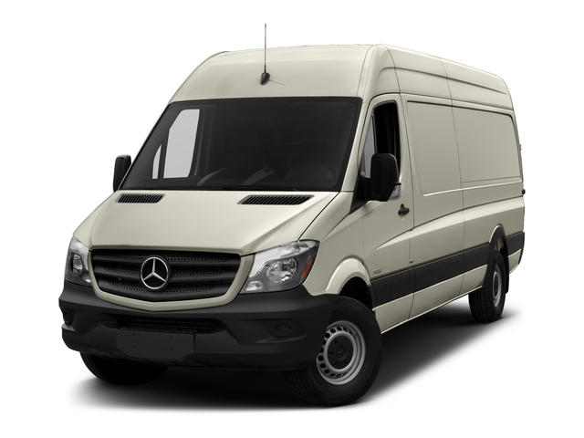 Gray White Metallic 2017 Mercedes-Benz Sprinter Cargo Van Pictures Sprinter Cargo Van 3500 High Roof V6 170 Extended RWD photos front view