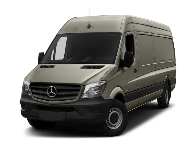 Stone Gray Metallic 2017 Mercedes-Benz Sprinter Cargo Van Pictures Sprinter Cargo Van 3500 High Roof V6 170 Extended RWD photos front view