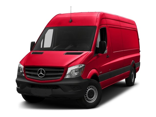 Coca Cola Red 2017 Mercedes-Benz Sprinter Cargo Van Pictures Sprinter Cargo Van 3500 High Roof V6 170 Extended RWD photos front view