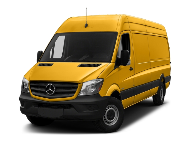 Calcite Yellow Metallic 2017 Mercedes-Benz Sprinter Cargo Van Pictures Sprinter Cargo Van 2500 High Roof V6 170 RWD photos front view