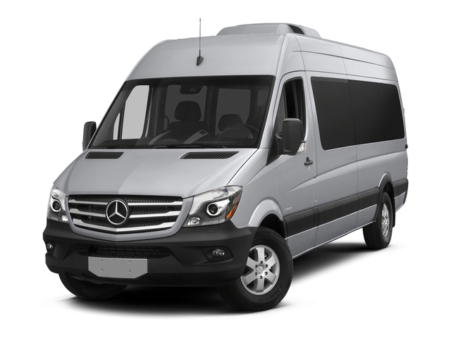 Brilliant Silver Metallic 2017 Mercedes-Benz Sprinter Passenger Van Pictures Sprinter Passenger Van Extended Passenger Van High Roof photos front view