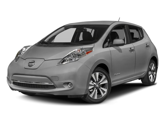 Brilliant Silver 2017 Nissan LEAF Pictures LEAF SV Hatchback photos front view